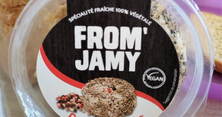 Test du fromage vegan à tartiner : le From'Jamy Poivre 5 Baies
